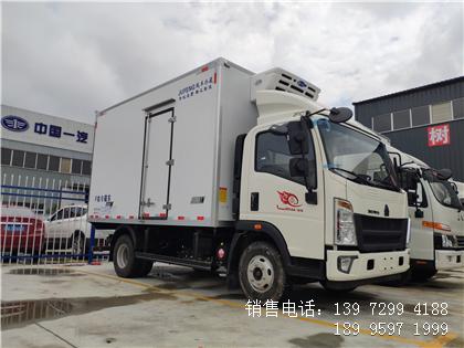 程力蓝牌国六4米2重汽蔬菜冷藏车厂家配置多少钱