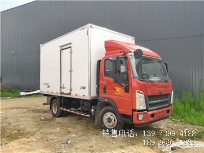 程力蓝牌国六4米2重汽肉钩冷藏车厂家配置报价