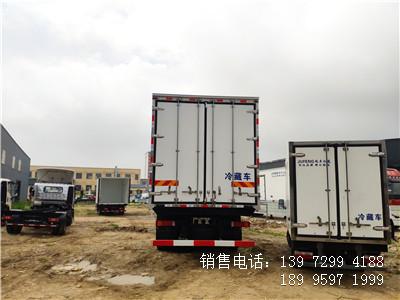 程力国六9米6东风天龙前四后八肉钩冷藏车厂家报价
