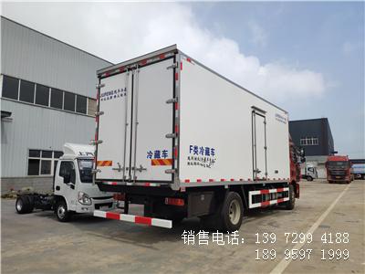 程力国六6米8解放J6L肉钩冷藏车厂家报价