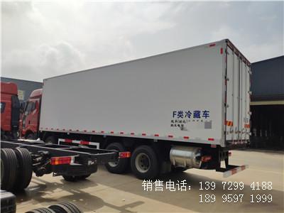 程力国六9米6解放J6P前四后八肉钩冷藏车厂家报价