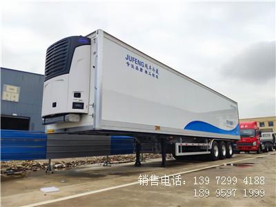 程力13米6半挂海鲜冷藏车肉钩冷藏车厂家报价多少钱