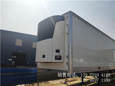 程力轻量化13米6半挂海鲜冷藏车厂家价格配置