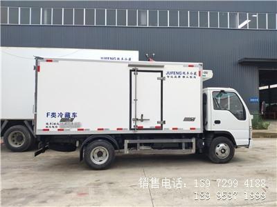 程力蓝牌国六4米2五十铃100P海鲜冷藏车厂家报价