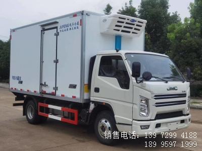 程力国六蓝牌4米2江铃顺达海鲜冷藏车厂家报价配置