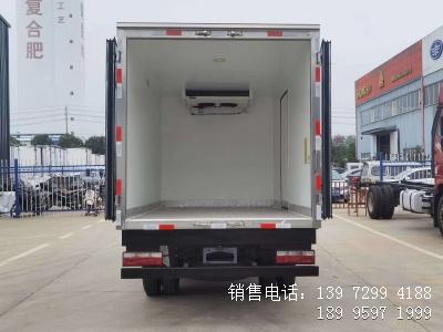 程力蓝牌3米7江淮新康铃J3海鲜冷藏车厂家报价图片