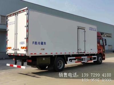 程力国六7米6解放J6L肉钩冷藏车厂家配置图片