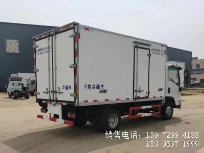 程力蓝牌国六4米2五十铃肉钩冷藏车海鲜冷藏车厂家价格