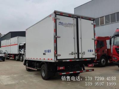 程力蓝牌国六4米2福田欧马可S3肉钩冷藏车厂家电话报价