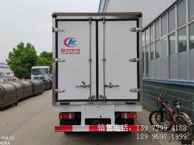 程力蓝牌4米2江铃顺达肉钩冷藏车生产厂家电话
