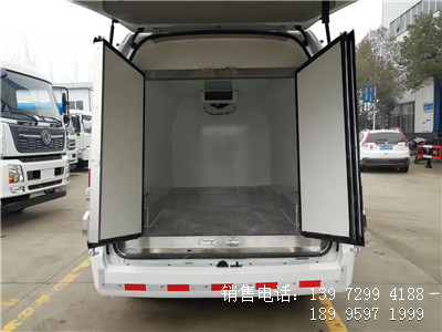 程力国六3米福田风景G9面包冷藏车厂家报价