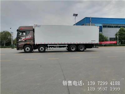 程力国六9米6解放JH6前四后八肉钩冷藏车海鲜冷藏车厂家