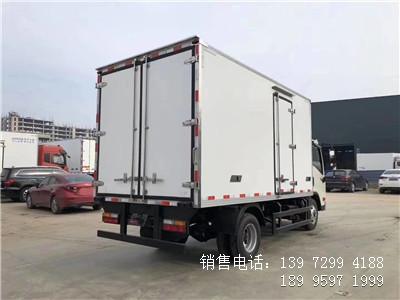 程力蓝牌国六4米2大运肉钩冷藏车厂家价格配置