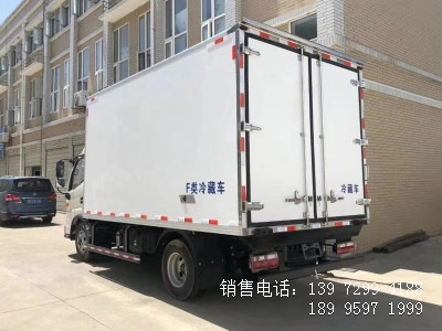 程力国六蓝牌4米2江淮帅铃E猪肉冷藏车厂家图片
