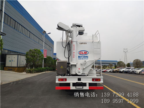15吨散装饲料车-东风天锦饲料车-东风天锦小三轴散装饲料车