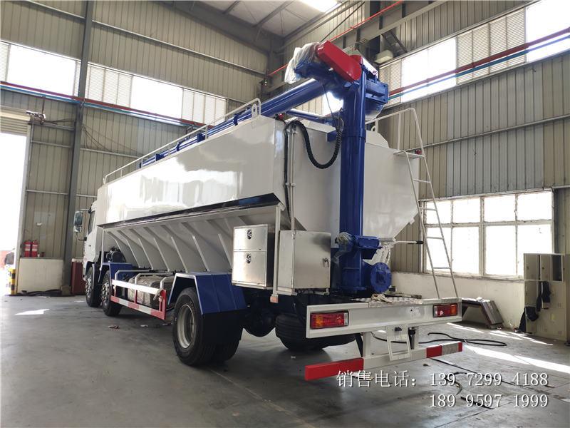 15吨陕汽轩德散装饲料车价格-15吨陕汽轩德散装饲料车厂家