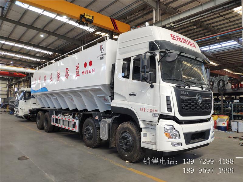 20吨东风天龙散装饲料车价格-20吨东风天龙散装饲料车厂家