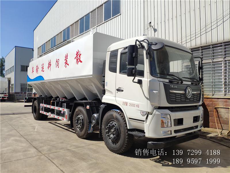东风天锦散装饲料运输车属于什么车型?