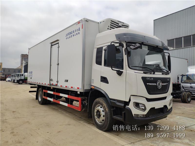 新款6.8米东风天锦kr冷藏车生产厂家电话