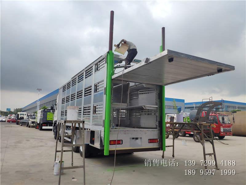 东风天龙铝合金运猪车价格-东风天龙铝合金运猪车厂家