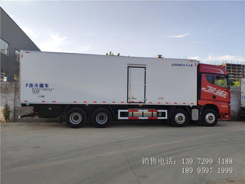 9.6米解放JH6前四后八肉钩冷藏车厂家9.6米解放JH6前四后八肉钩冷藏车价格
