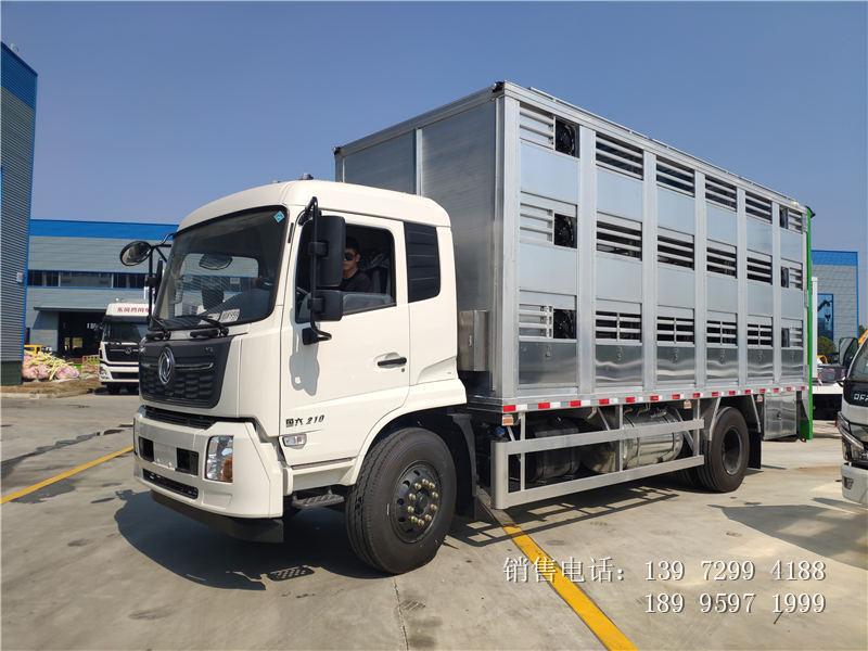 6米8东风天锦铝合金拉猪车厂家新品报价