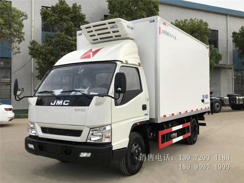 江铃顺达宽体4米2冷藏车厂家-4.2米江铃顺达宽体冷藏车价格