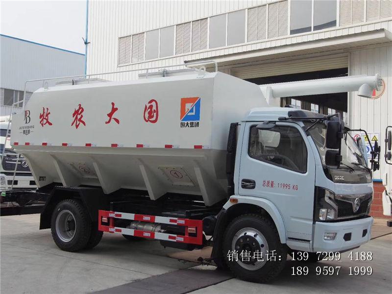 6吨散装饲料车报价-6吨东风福瑞卡散装饲料车厂家
