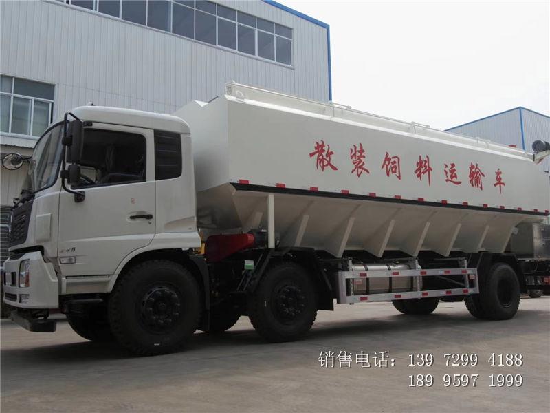17吨电动东风天锦小三轴散装饲料车厂家价格图片