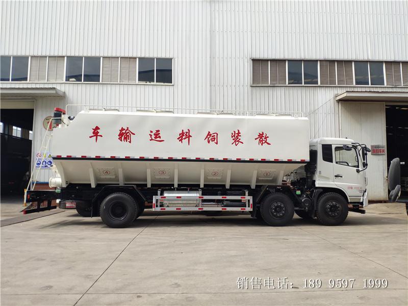 17吨电动东风天锦小三轴散装饲料车厂家报价