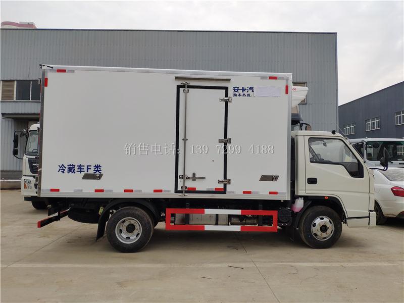 新款蓝牌4.2米江铃顺达冷藏车厂家
