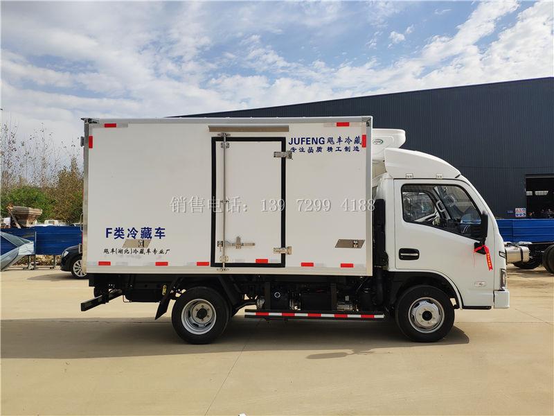 小型3米2蓝牌上汽跃进s80柴油肉钩冷藏车厂家价格配置参数图片